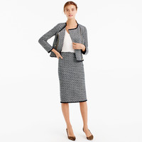 Pencil skirt in fringy tweed