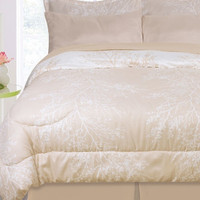 Kids Bedding- 8 Piece Bayou Reversible Bed in a Bag- Ivory/ Linen