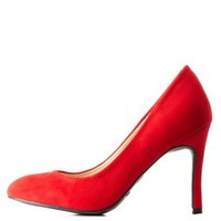 Round Toe Single Sole Pumps by