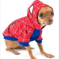 """Spider-Dog Costume for Dogs - Size 1 (8"""" l x 10.5"""" x 12"""" g)"""