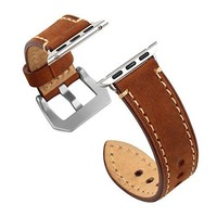 Apple Watch Band 38mm iWatch Strap Premium Vintage Genuine Leather Replacement band
