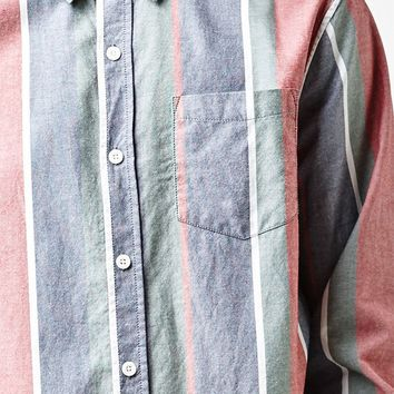 PacSun Oxford Striped Long Sleeve Button Up Shirt at PacSun.com