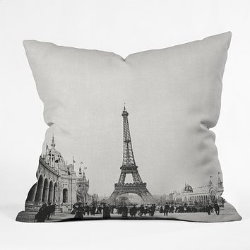 Bianca Green VINTAGE PARIS AROUND 1900 Outdoor Throw Pillow
