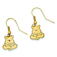 Gold-plated SS Disney Winnie the Pooh Dangle Wire Earrings WD159GP