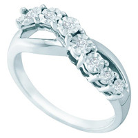 Diamond Fashion Ring in Sterling Silver 0.12 ctw