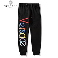 VERSACE Newest Popular Casual Colorful Embroidery Sport Pants Trousers Sweatpants Black