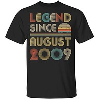 Legend Since August 2009 Vintage 11th Birthday Gifts Youth