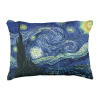 Starry Night Vincent van Gogh Fine Art Painting Accent Pillow