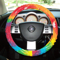 Tye Dye canvas Steering Wheel Cover