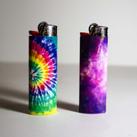 Space and Tie Dye Lighter