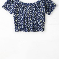 AEO Women's Don't Ask Why Cropped Ballet T-shirt