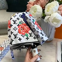 LV graffiti print logo men and women parasol