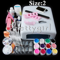 2015 New 12 Color UV Gel Nail Art Tools Sets Kits nail gel nails & tools nail polish kit = 1945944644
