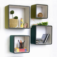 Square Leatherette Floating Shelves