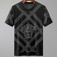 Versace 2020 new studded round neck half sleeve shirt