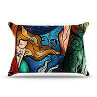"Mandie Manzano ""Fathoms Below Mermaid"" Pillow Case - Outlet Item"