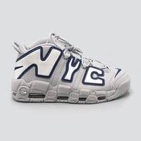 spbest NIKE - Men - Air More Uptempo NYC QS - Wolf Grey/White/Navy