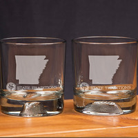 Arkansas Gameday Glassware