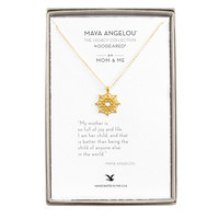 """""""My Mother Is So Full Of Joy…"""" Mom & Me Necklace, Gold Dipped 