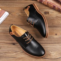 Oxford Style Leather Men's Dress Shoes
