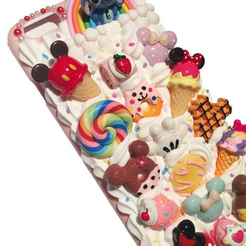 Made-to-Order! Disney Mickey and Minnie Mouse Kawaii Decoden Phone Case