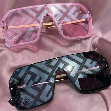 Fendi hot selling fashion FF letters men and women sunglasses beach glasses UV protection glasses driving polarized glasses