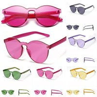 Fashion Retro Resin Frame Shades Vintage Glasses Style Women Sunglasses