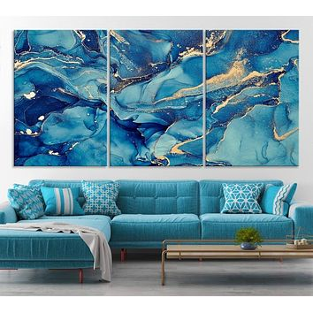 Abstract Marble Large Wall Art Canvas Print