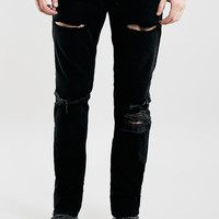 Black Blow Out Knee Classic Skinny Jeans - New This Week - New In