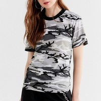 Vintage Colorful Camo Tee   Urban Outfitters