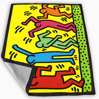 Keith Haring Pop Art Blanket for Kids Blanket, Fleece Blanket Cute and Awesome Blanket for your bedding, Blanket fleece *