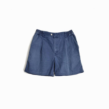Vintage Men's Blue Boat Shorts / 90s L.L. Bean Canvas Shorts - men's 33