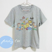 Animal tshirt Crew neck sweatshirt Short sleeve t shirt+off white or grey toddlers shirt >>View bust size in inches options