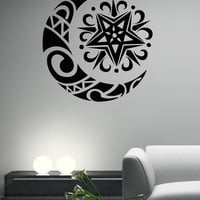 Vinyl Wall Decal Sticker Moon and Star Design #OS_AA1728