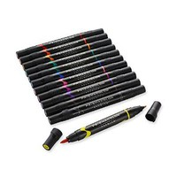 Prismacolor Premier Double Ended Art Markers, Brush Tip and Fine Tip, Set of 12 Primary Colors (1773297)