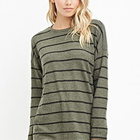 Marled Stripe Fleece Top