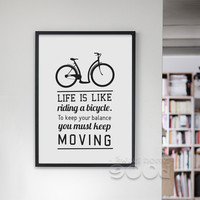 Inspiration Quote And Bicycle Canvas Art Print Poster, Wall Pictures for home Decoration, Wall Decor FA199