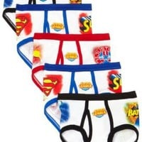 Fruit Of The Loom Boys 2-7 5 Pack Justice League Briefs $12.99