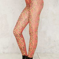 Slither Along Tights - Red