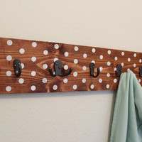 Polka Dot Wall Coat Hanger