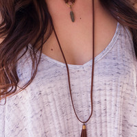 Monty Suede Layered Necklace