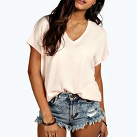 Taylor V Neck Oversized Knitted Tee
