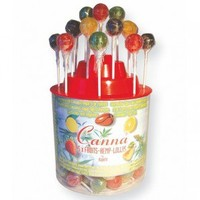 Canna Assorted Fruits and Hemp-Flavored Lollipops - 125 Pieces - Glass Bongs - Bongs and Waterpipes - Smoking Pipes - Grasscity.com