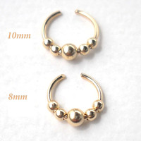 14K Gold Filled Ear Cuff or Fake Nose Ring G20 - 8mm/10mm Fake piercing ring,cartilage,helix,tragus,ear hoop