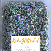 Mermaid Scales- Silver Holographic