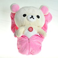 Korilakkuma in Pink Sleeping Bag Plush