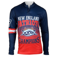 New England Patriots Super Bowl XXXIX NFL Champions Poly Hoody Tee