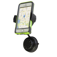 Evelots® Adjustable 360 Degree Cell Phone Car Suction Cup Mount, Black