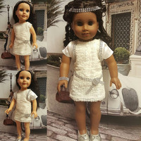 """18 inch doll clothes """"Modern Day Gatsby"""" will fit American Girl doll outfit dressy ensemble sequined dress satin bolero trim R4"""