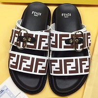 Fendi New Fashion More Letter Print Flip Flop Slippers Shoes